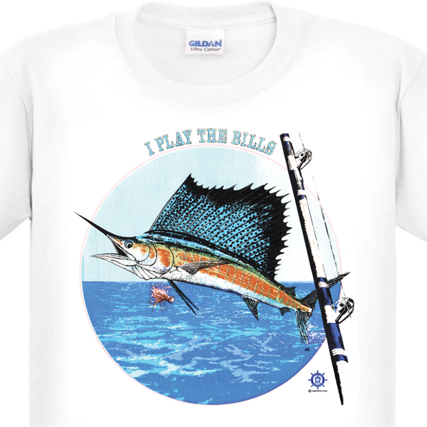 Sailfish T-Shirt by Capt'n Tom's Artworks