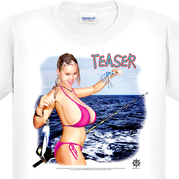 Sexy Woman Fishing T-Shirt