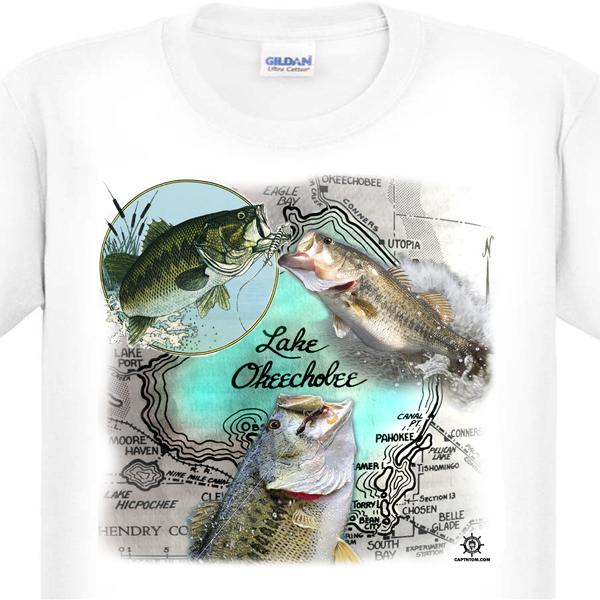 Lake Okeechobee Bass Fishing T-Shirt