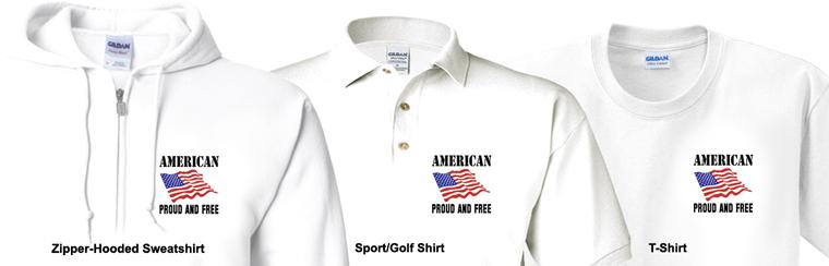 captntom flag t-shirt logo