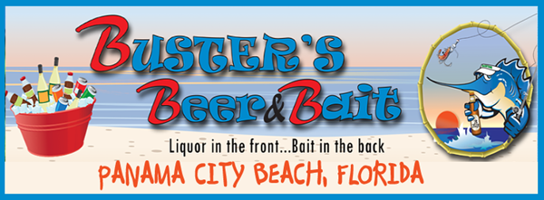 BUSTER'S BEER & BAIT. BAR, LIQUOR STORE, BAIT N TACKLE
