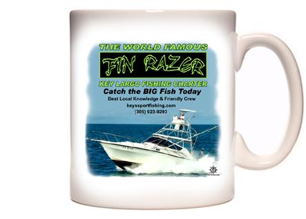 Fin Razer Key Largo Fishing Charter Coffee Mug