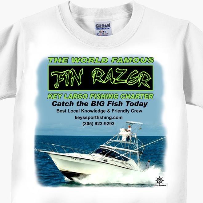 Fin Razer Key Largo Fishing Charter T-Shirt
