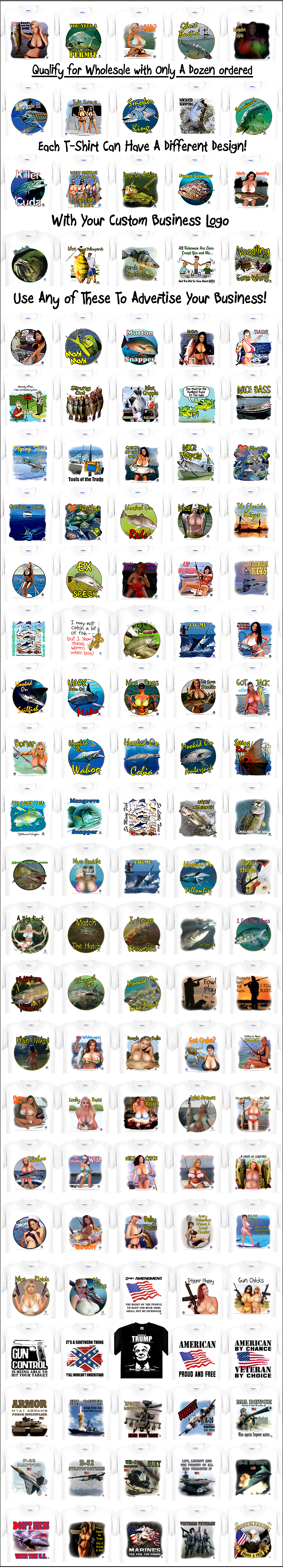Over 100 Capt'n Tom's Artworks T-Shirt Thumbnails