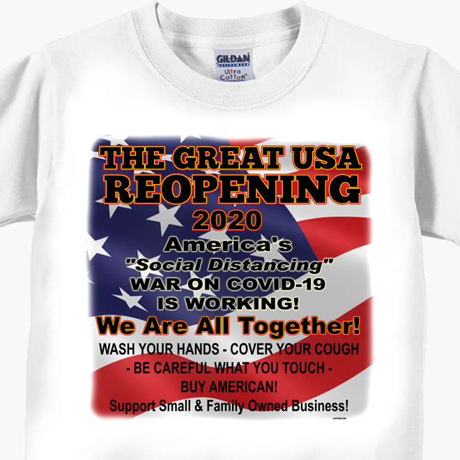 The Great USA Reopening - Coronavirus Covid-19 T-Shirt